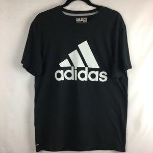 Adidas 3 Stripes Black Workout Tee